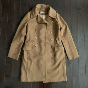 Blancs Manteaux Tan Double Breasted Coat